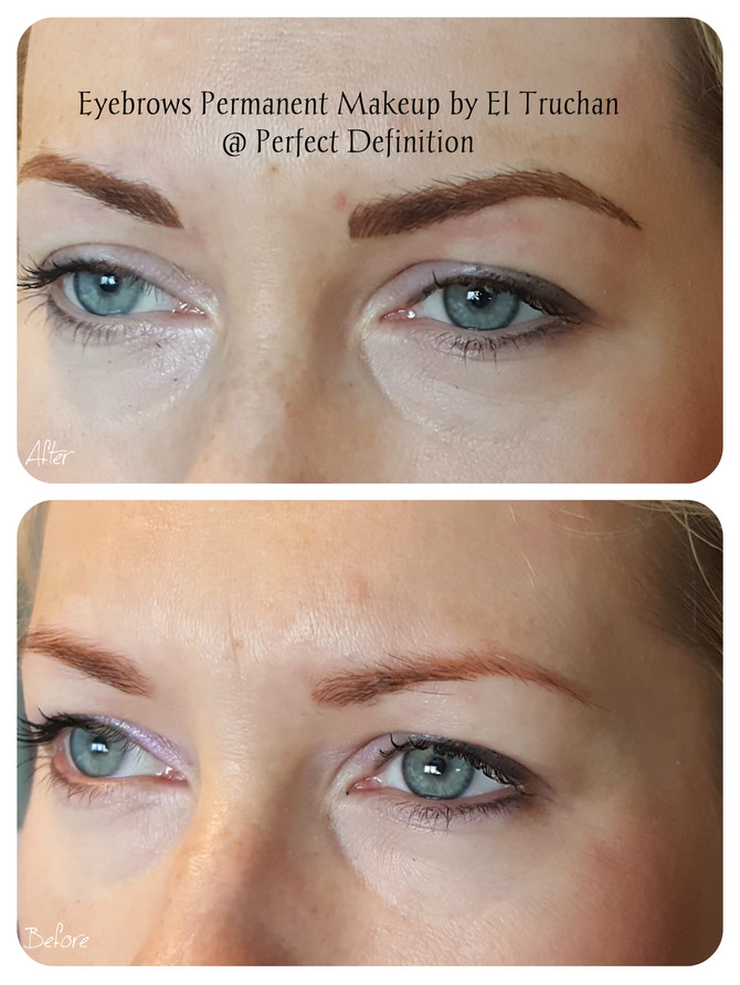 Eyebrows Permanent Makeup - Before - After