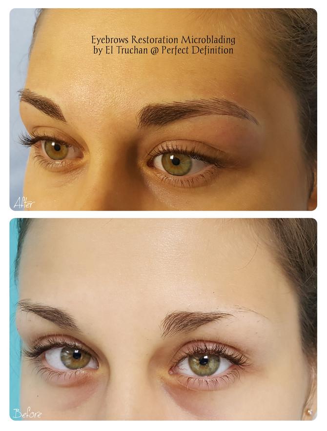 Eyebrows Restoration Microblading by El Truchan @ Perfect Definition