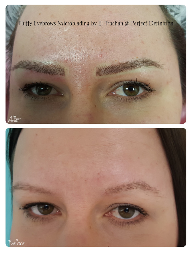 Fluffy Eyebrows Microblading by El Truchan @ Perfect Definition