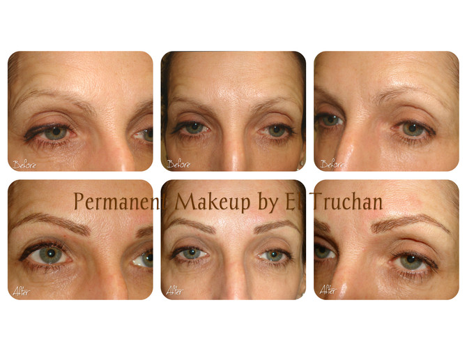 Microblading - Permanent Makeup Eyebrows Before - After