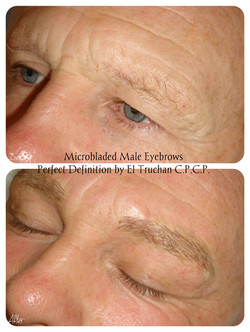 Male Eyebrows Microblading by El Truchan _ Perfect Definition