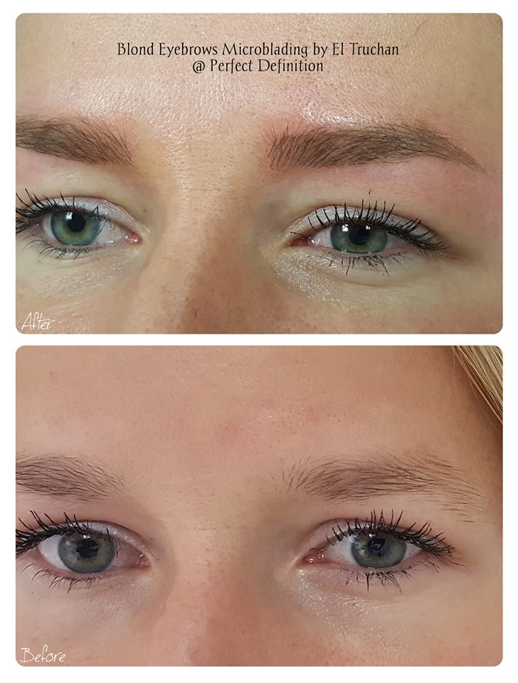 Blonde Eyebrows Microblading