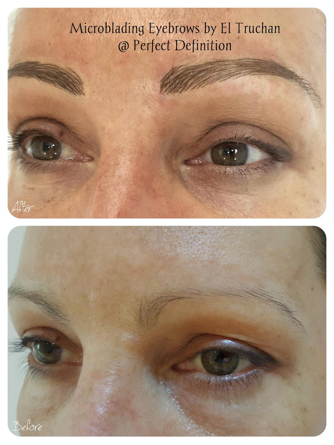Microblading - Eyebrow Transformation: Before - After