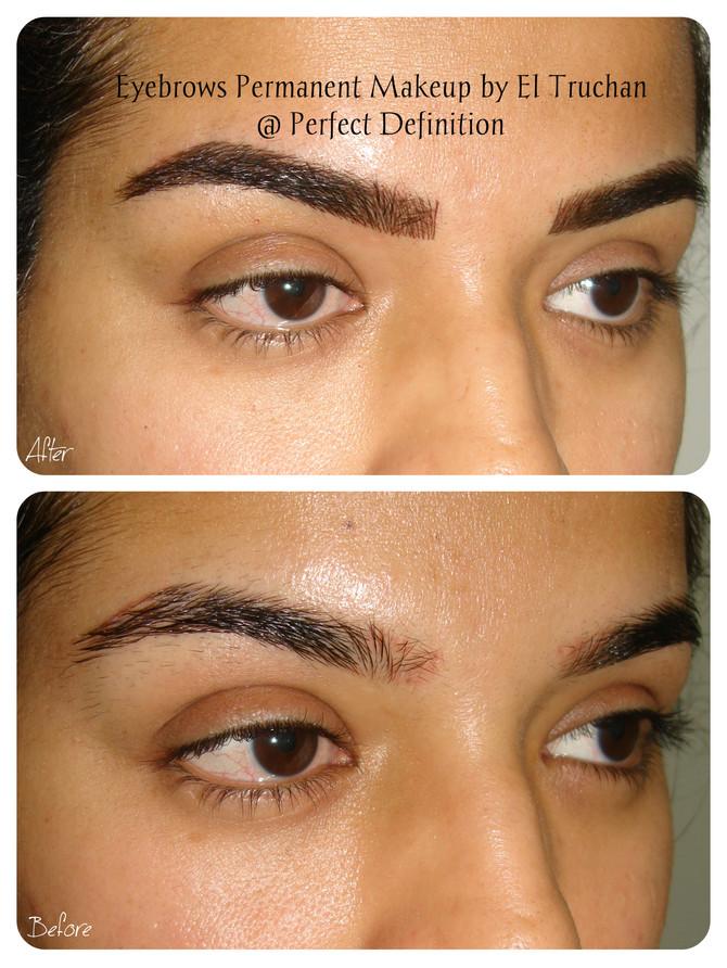"Permanent Makeup Eyebrows ""Arabian nights"" by El Truchan @ Perfect Definition"