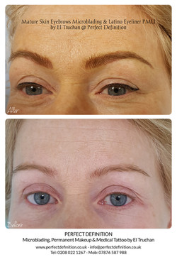 Mature Skin Eyebrows Microblading & Lati