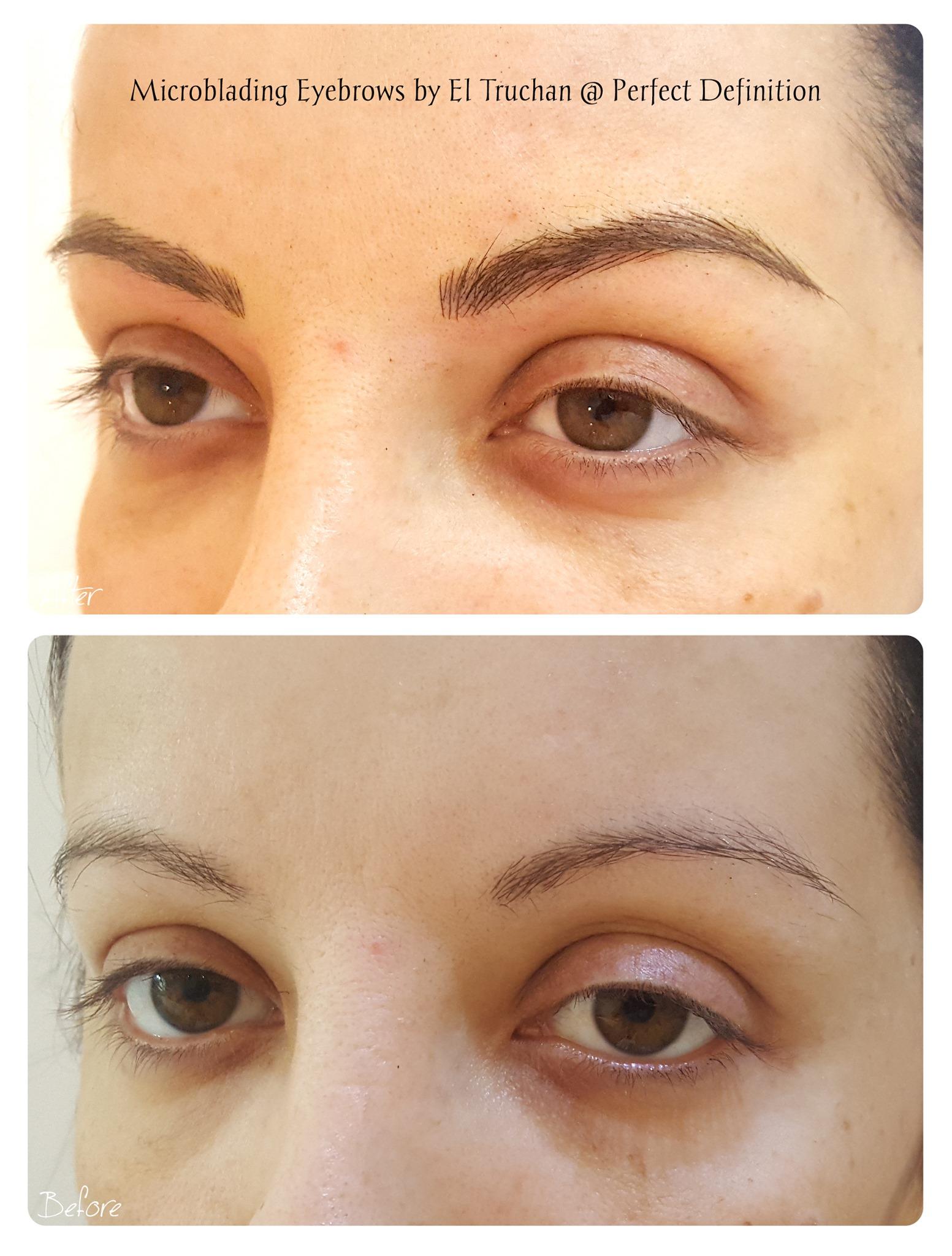 Microblading Eyebrows by El Truchan @ Pe