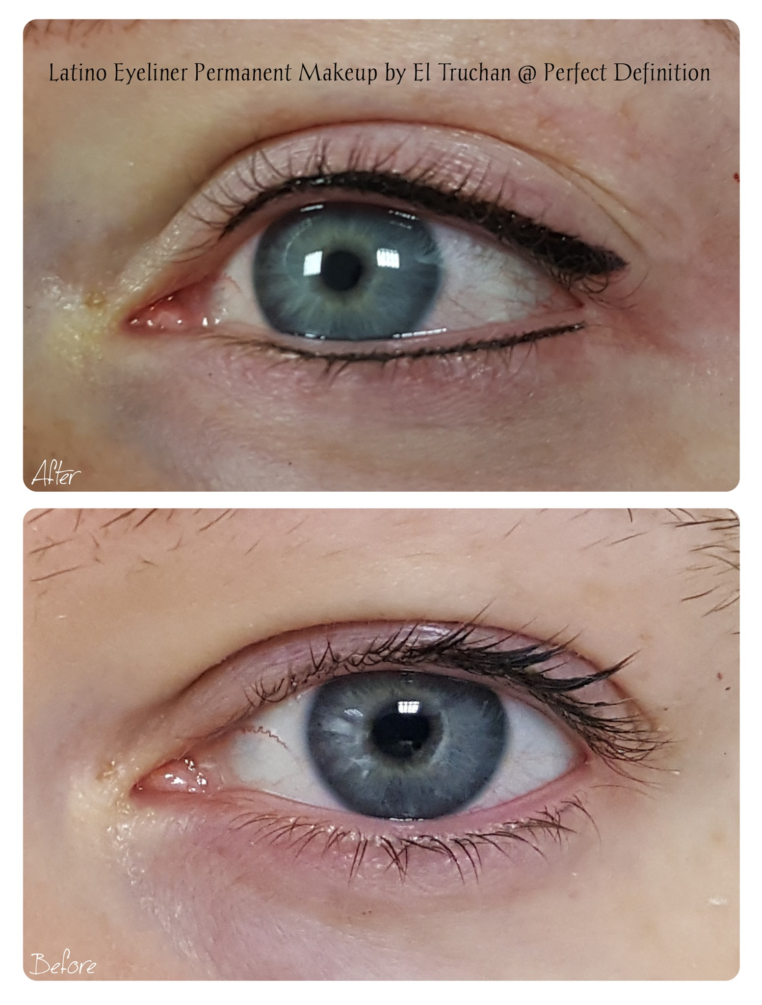 Eyeliner with a Flick Permanent Makeup b