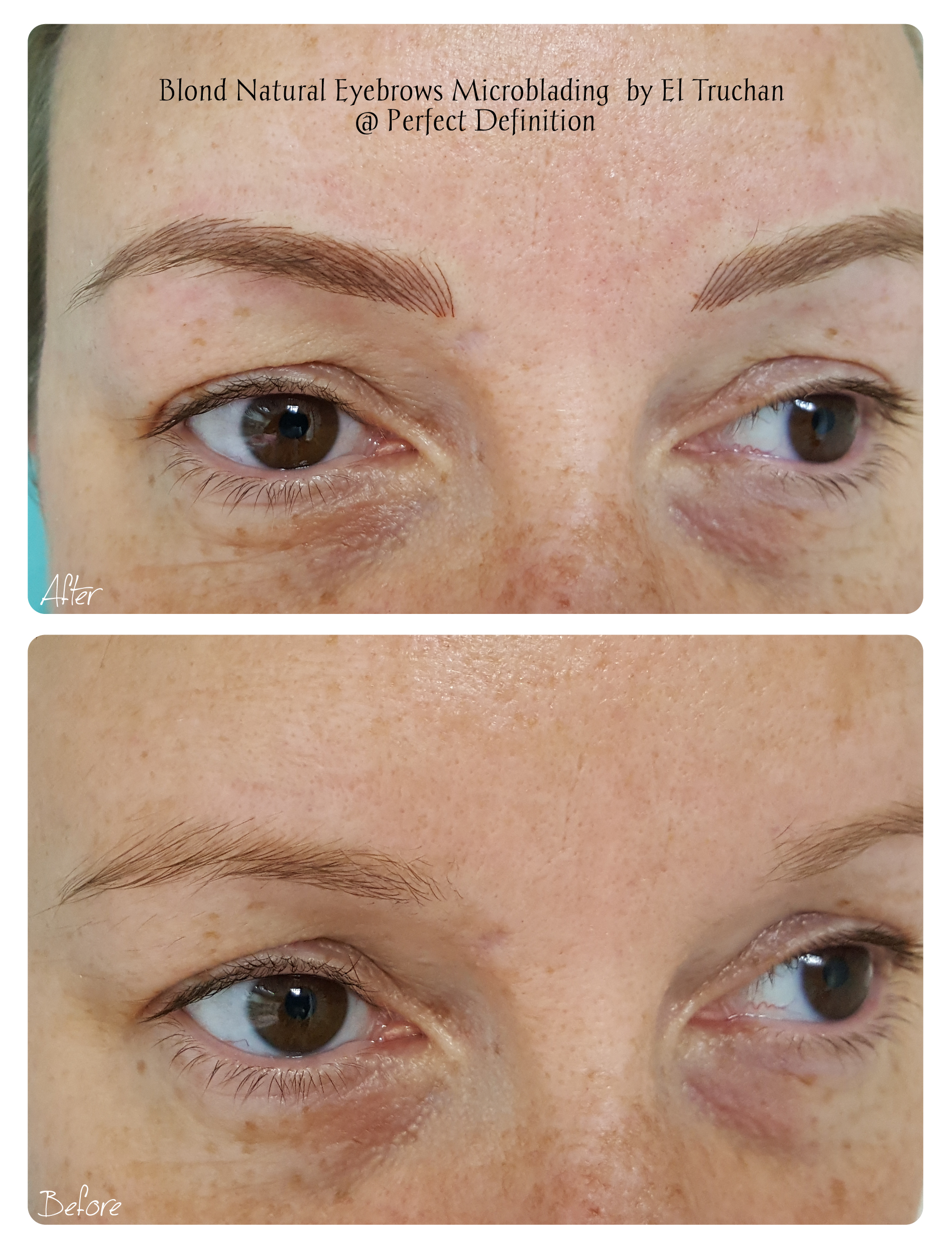 Blond Natural Eyebrows Microblading  by El Truchan  _ Perfect Definition 901