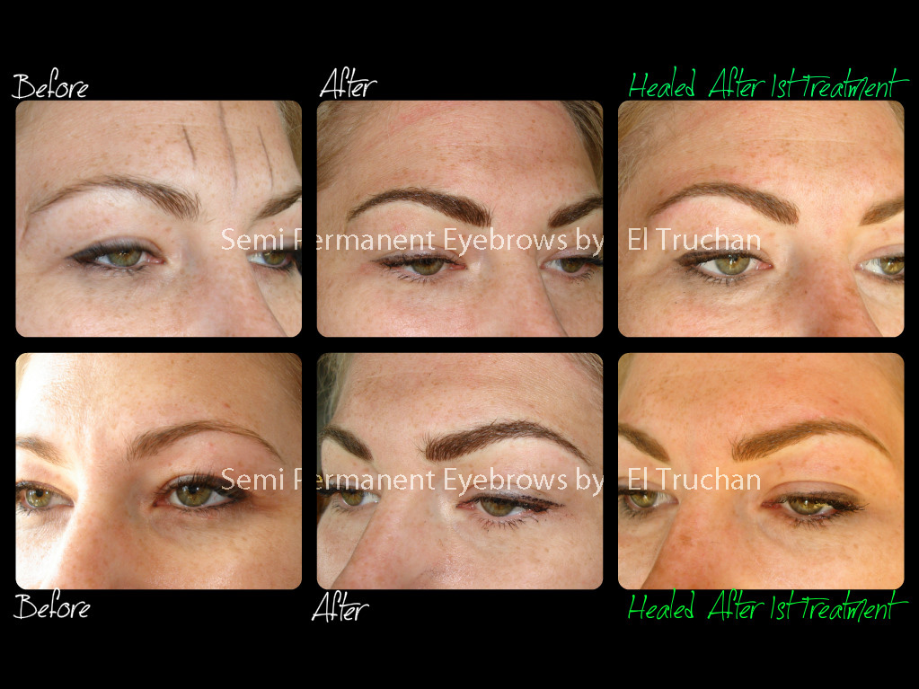 Semi Permanent Eyebrows Before - After - Healed by El Truchan CPCP.jpg