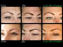 Semi Permanent Eyebrows Before - After - Healed by El Truchan CPCP.jpg