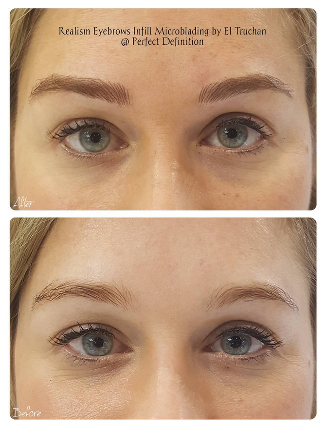 Realism Microblading Eyebrows by El Truchan @ Perfect Definition in London
