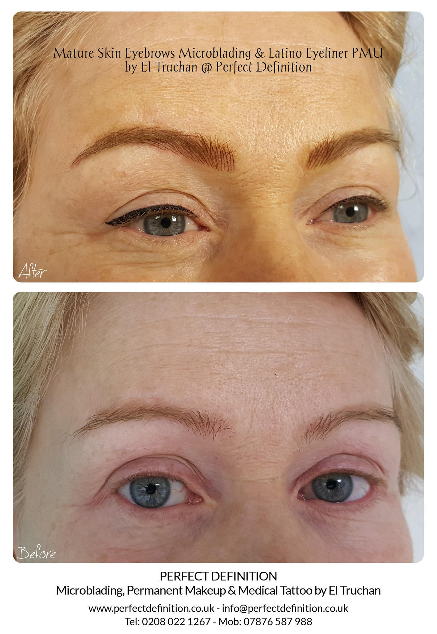 Mature Skin Eyebrows Microblading & Lati