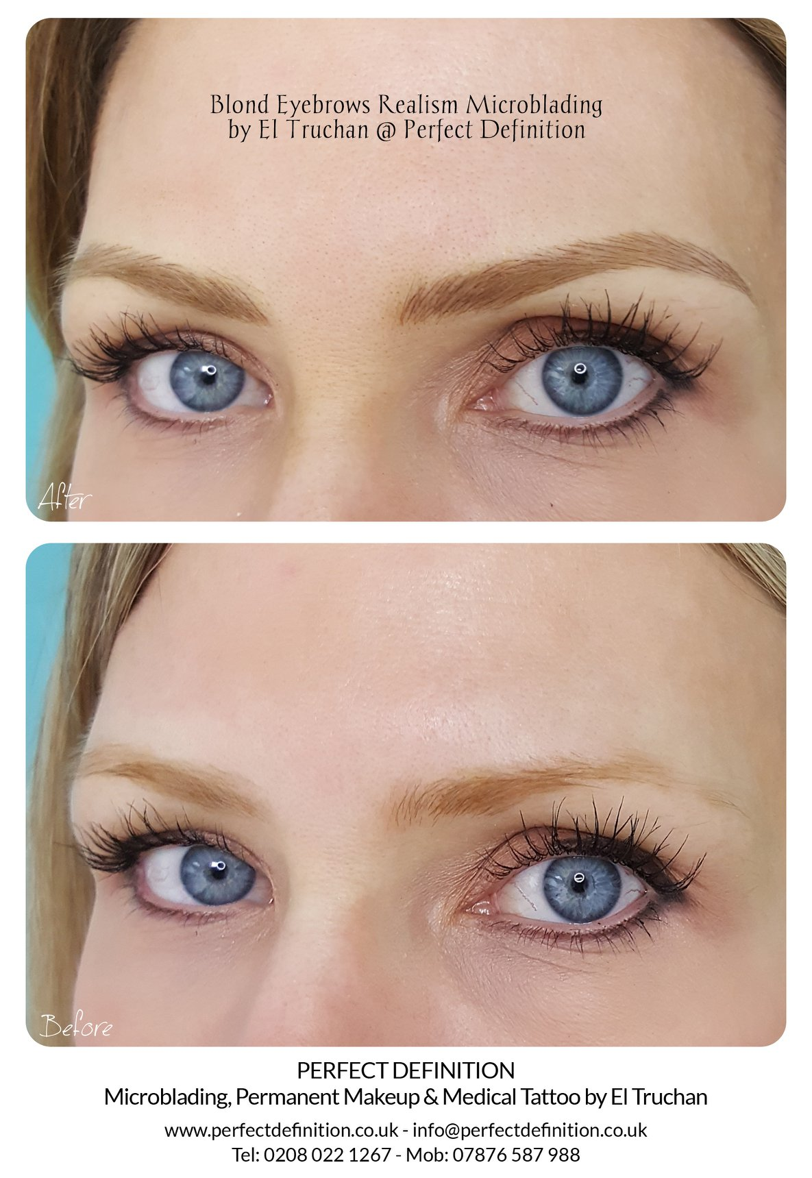Blonde Eyebrows Realism Microblading by