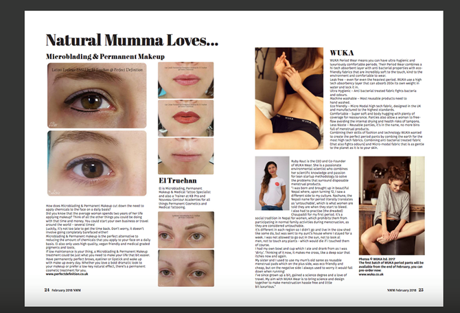 El Truchan featuring in this month's Natural Mumma Magazine