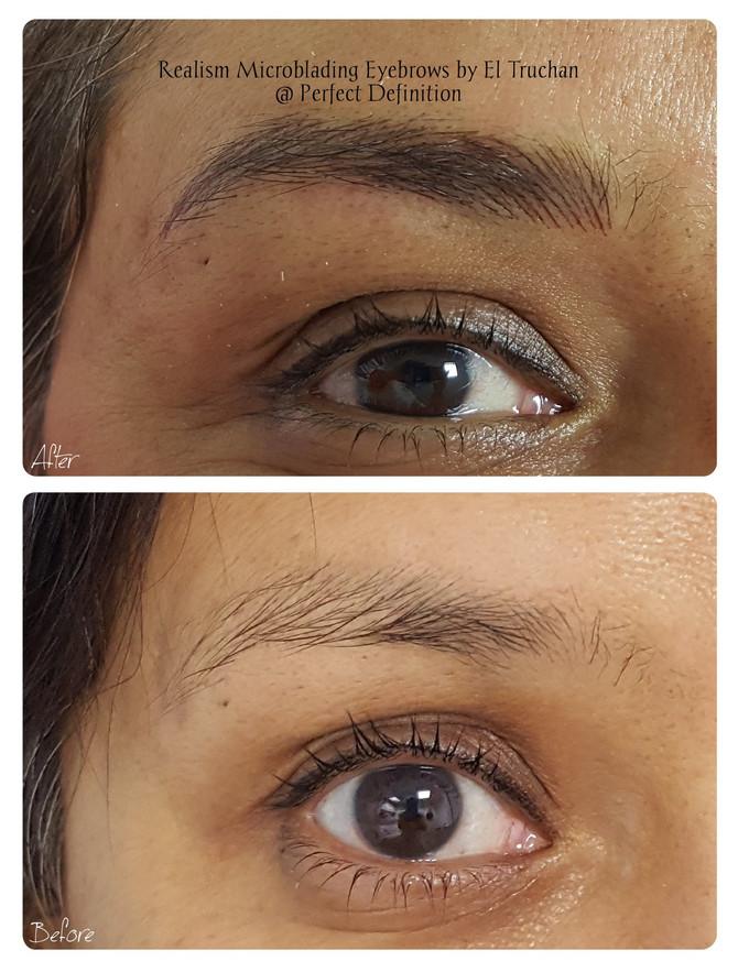 Realism Microblading Eyebrows by El Truchan @ Perfect Definition