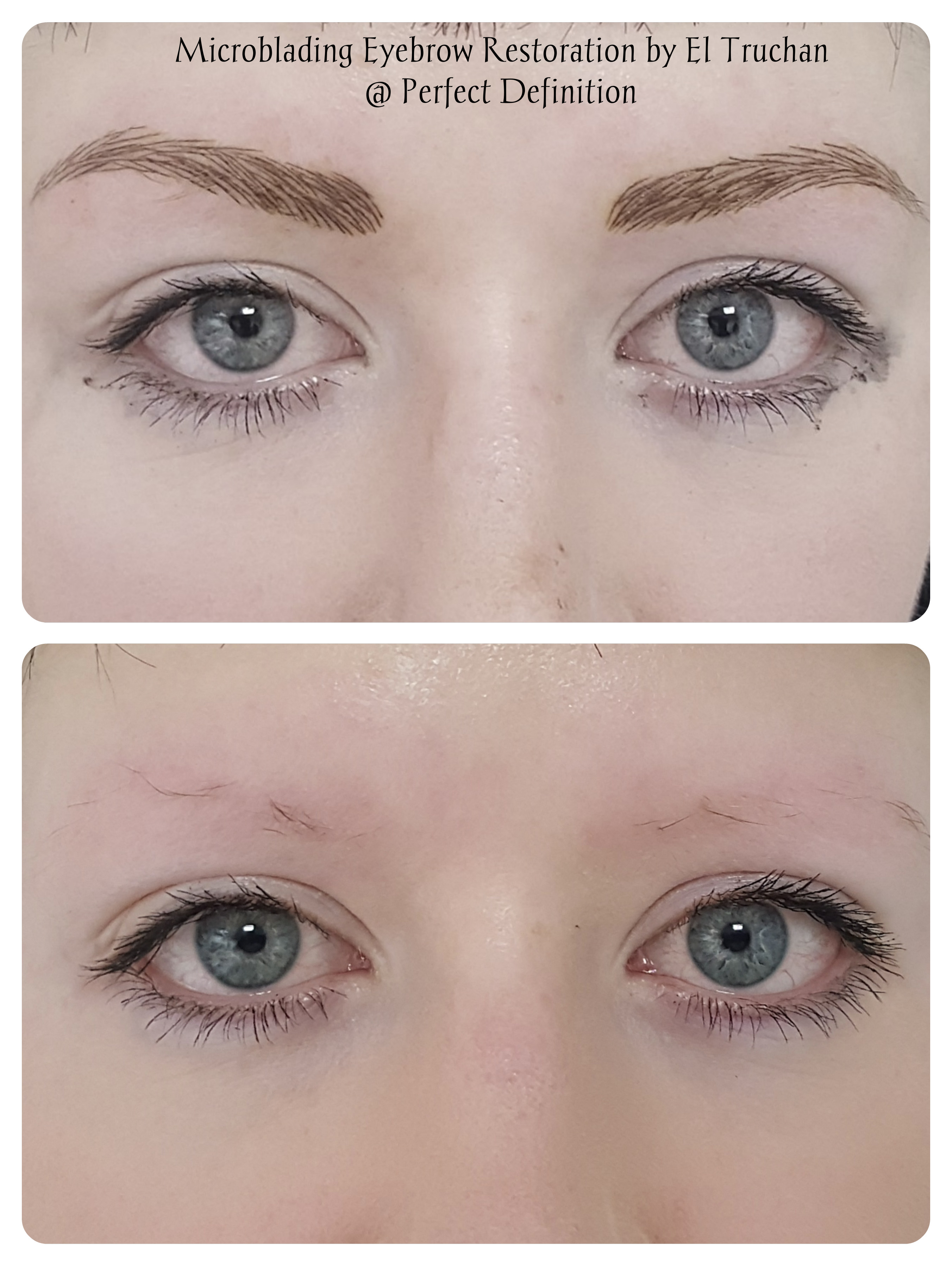 Eyebrows Restoration Microblading by El Truchan _ Perfect Definition.....