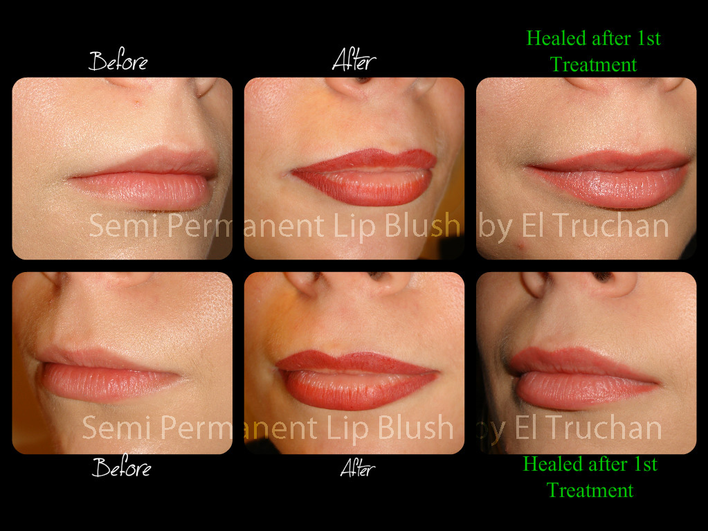 Semi Permanent Lip Blush by El Truchan Healed
