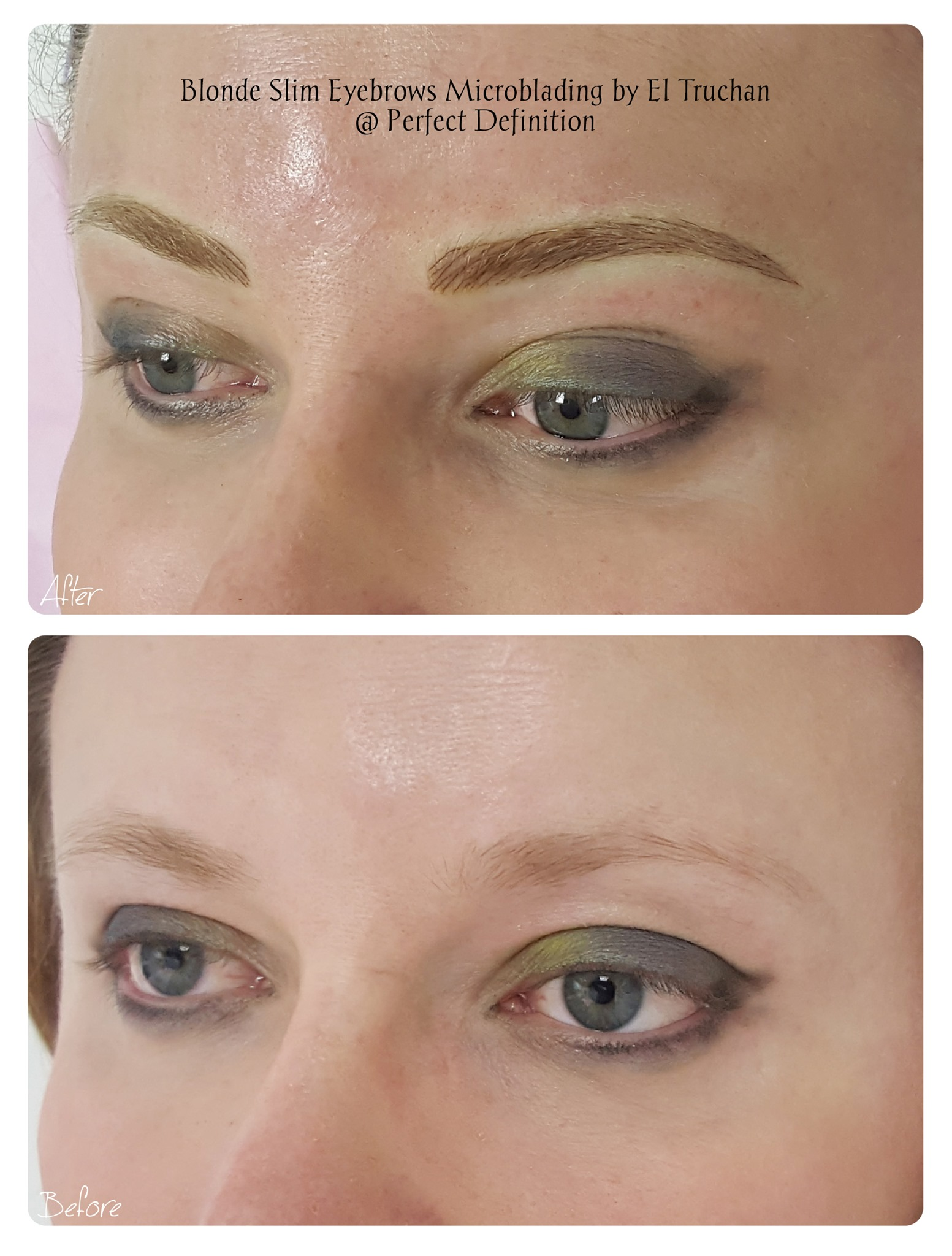 Blonde Slim Eyebrows Microblading by El