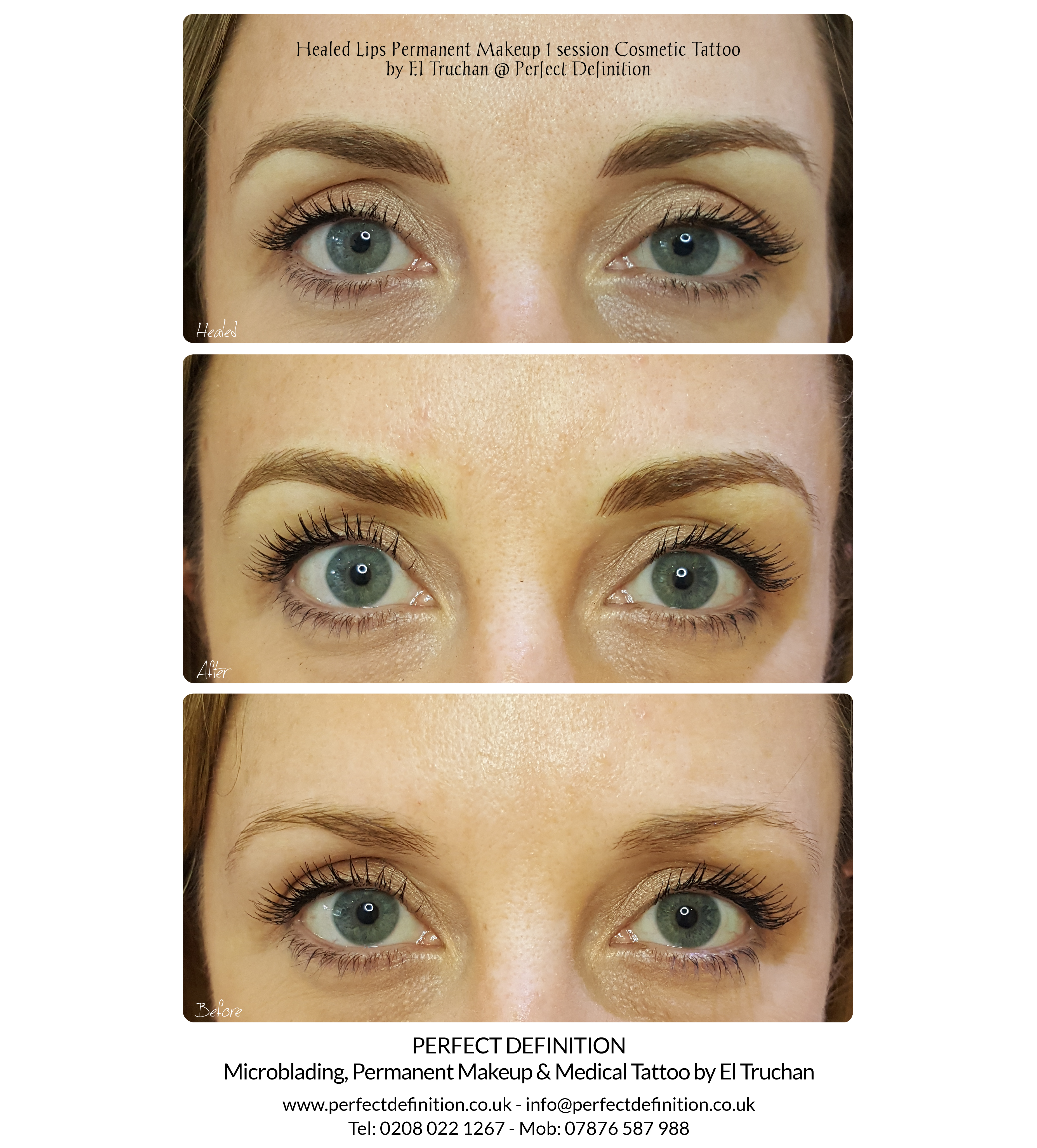 Healed Eyebrows Microblading