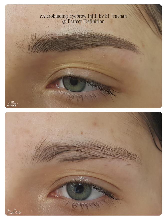 Microblading Eyebrows infill @ Perfect Definition by El Truchan