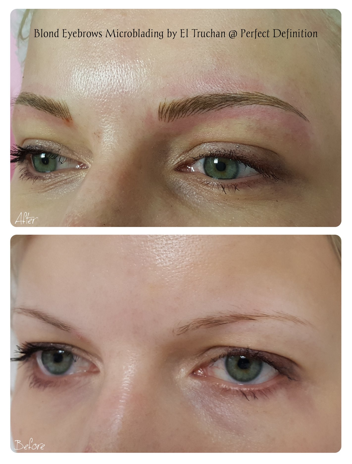 Blonde Eyrbows Microblading by El Trucha