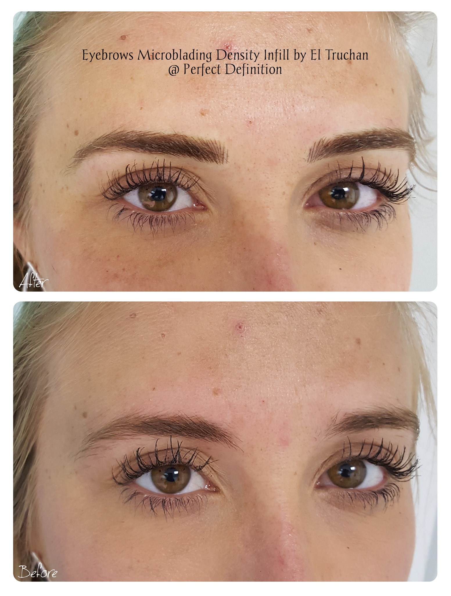 Eyebrows Microblading Density Infill by