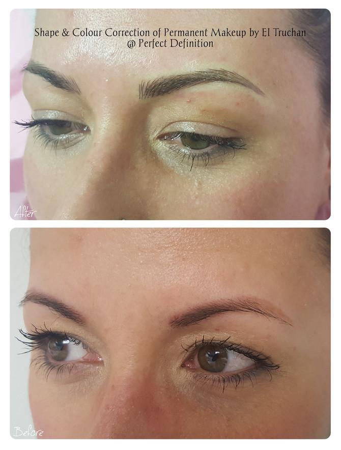 Shape & Colour Correction of Permanent Makeup by El Truchan @ Perfect Definition