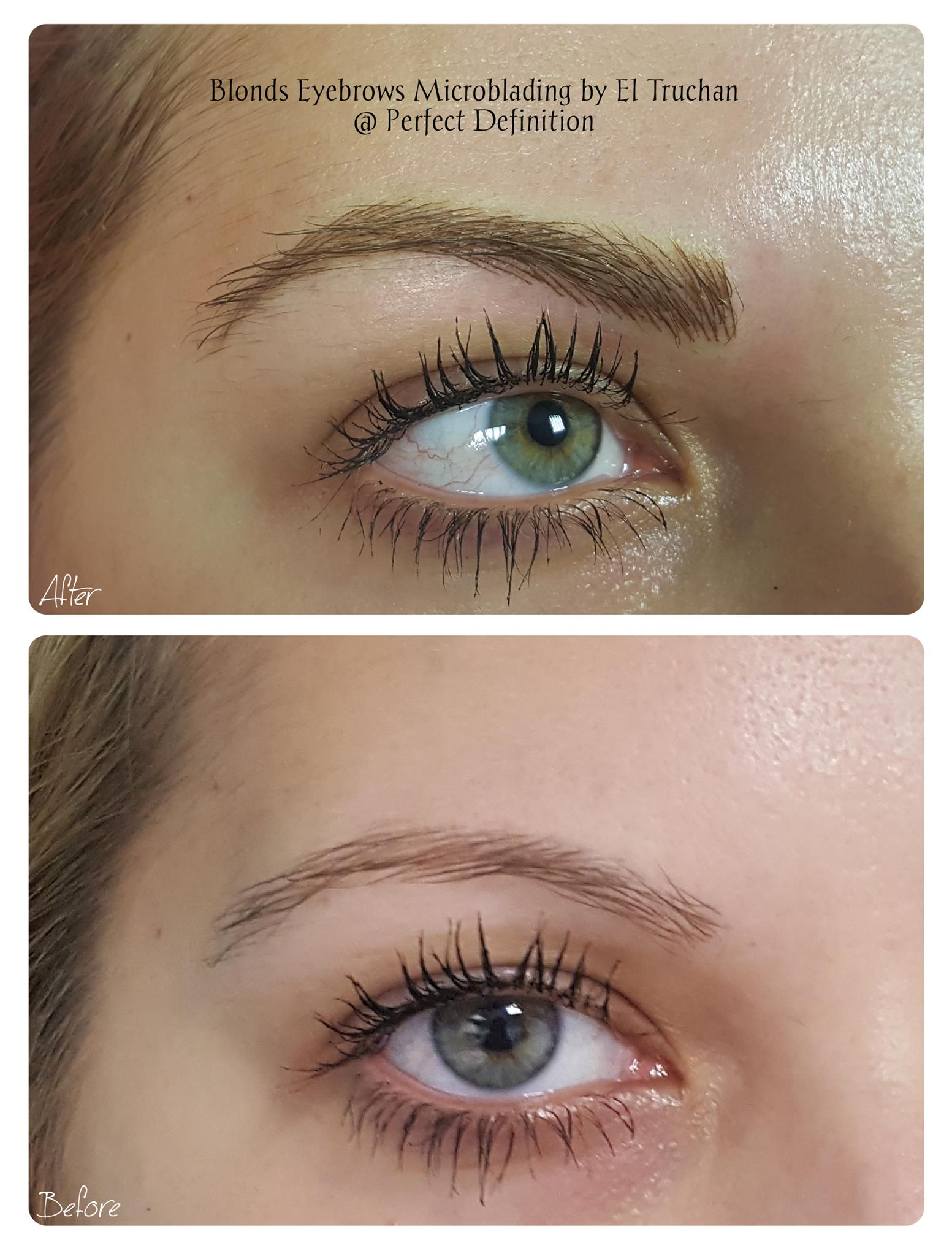 Microblading Eyebrows for Blondes