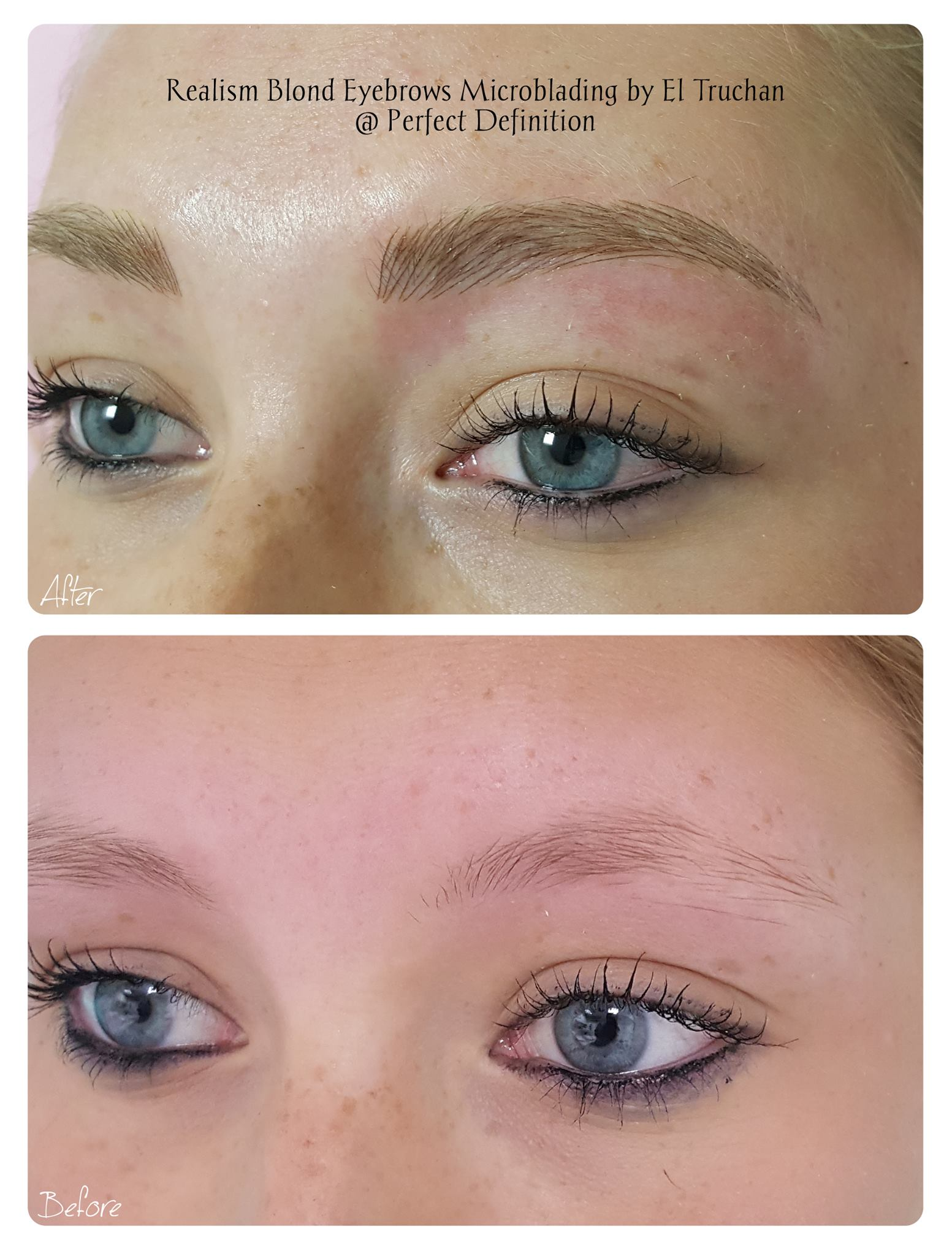 Realism Blonde Eyebrows Microblading