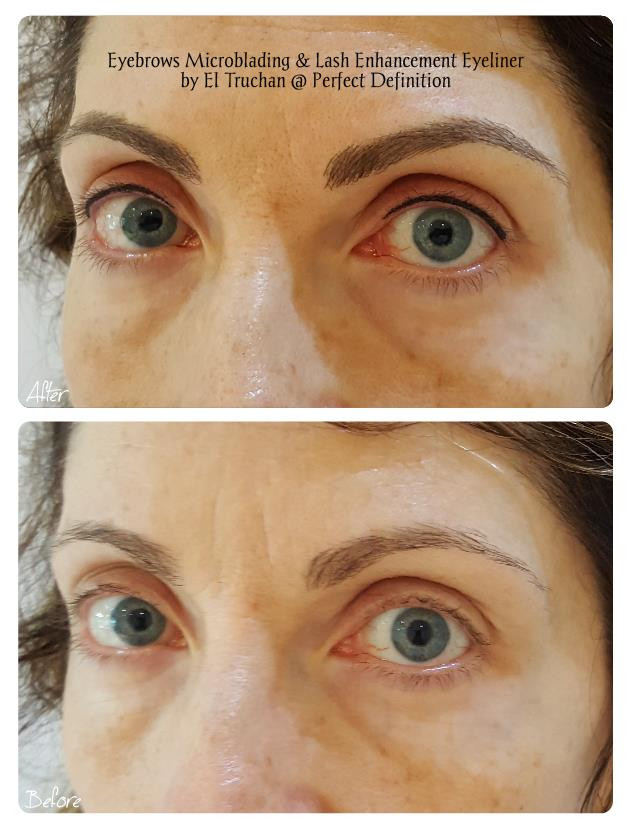 Eyebrows Microblading + Lash Enhancement Natural Eyeliner by El Truchan @ Perfect Definition
