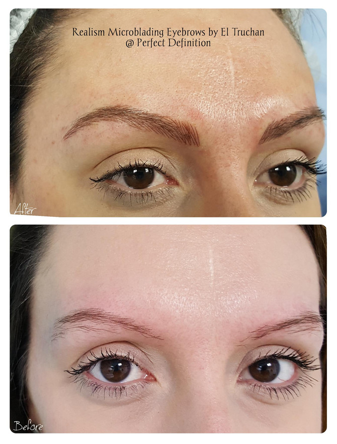 Realism Microblading Eyebrows by El Truchan @ Perfect Definition