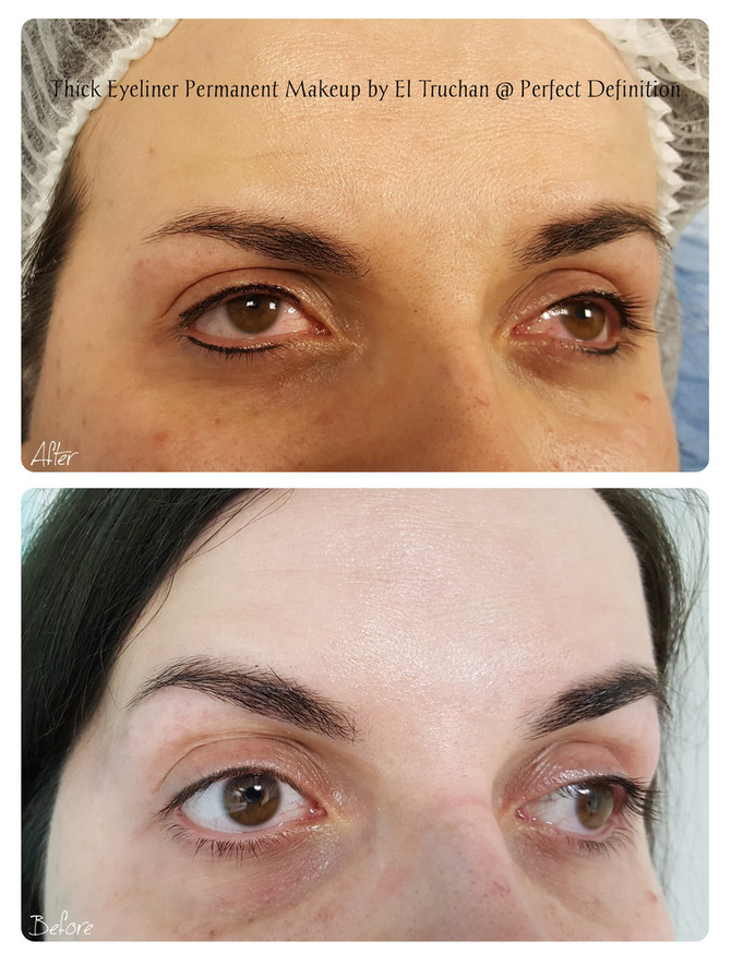 Thick Eyeliner Permanent Makeup by El Truchan @ Perfect Definition
