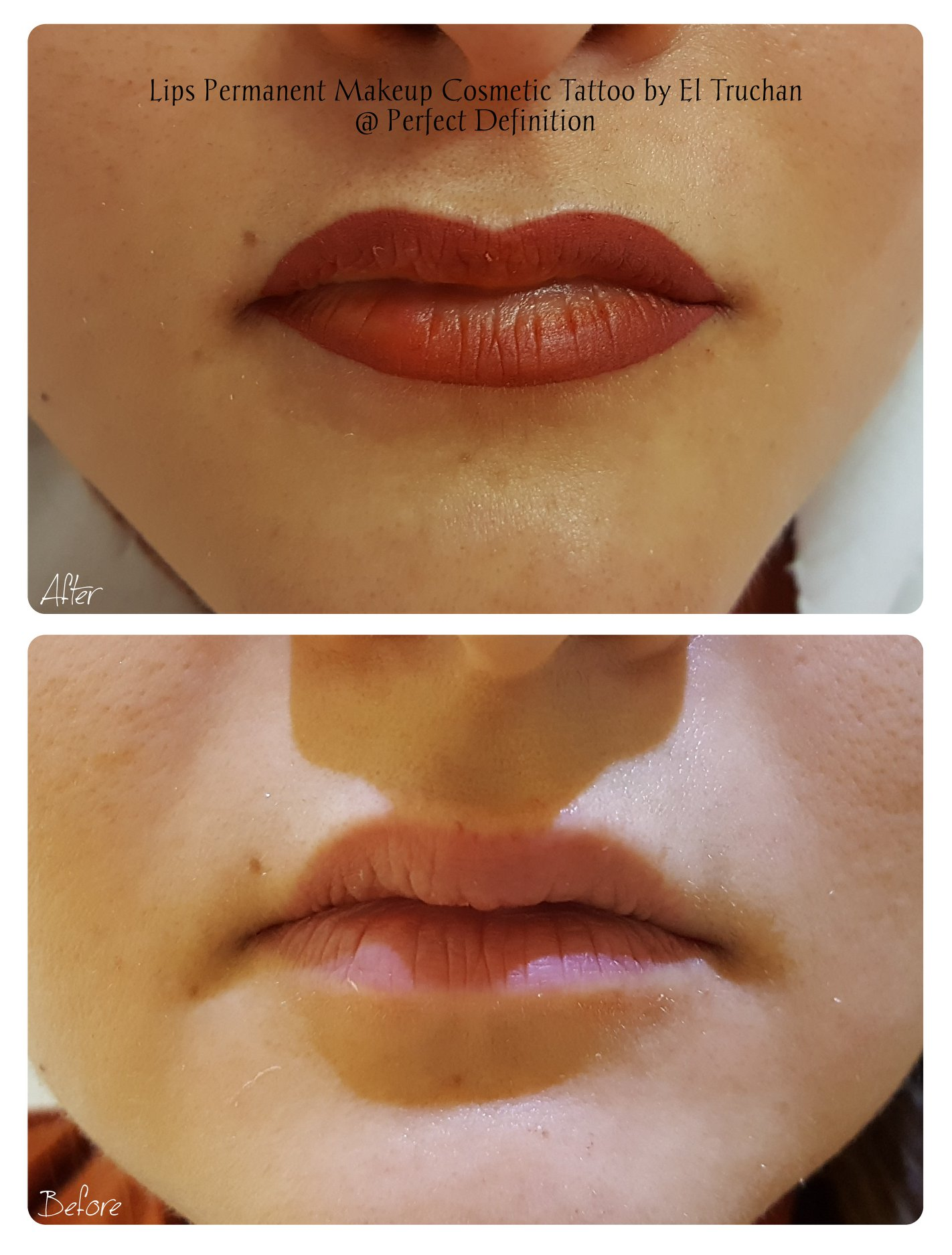 Lips Permanent Makeup Cosmetic Tattoo by