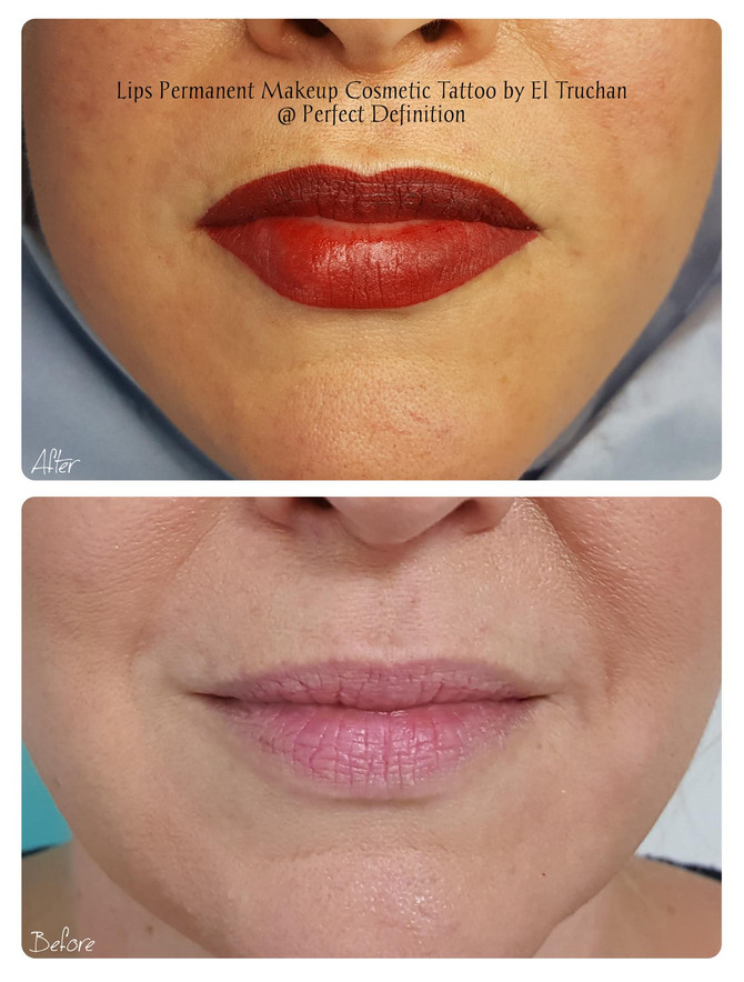 Lips Permanent Makeup Cosmetic Tattoo by El Truchan @ Perfect Definition