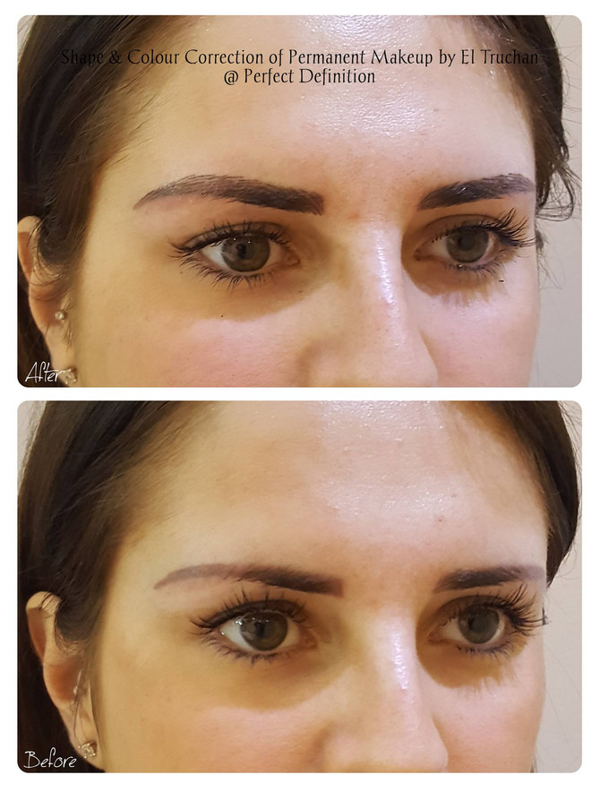 Shape & Colour Correction Permanent Eyebrows Makeup @ Perfect Definition by El Truchan