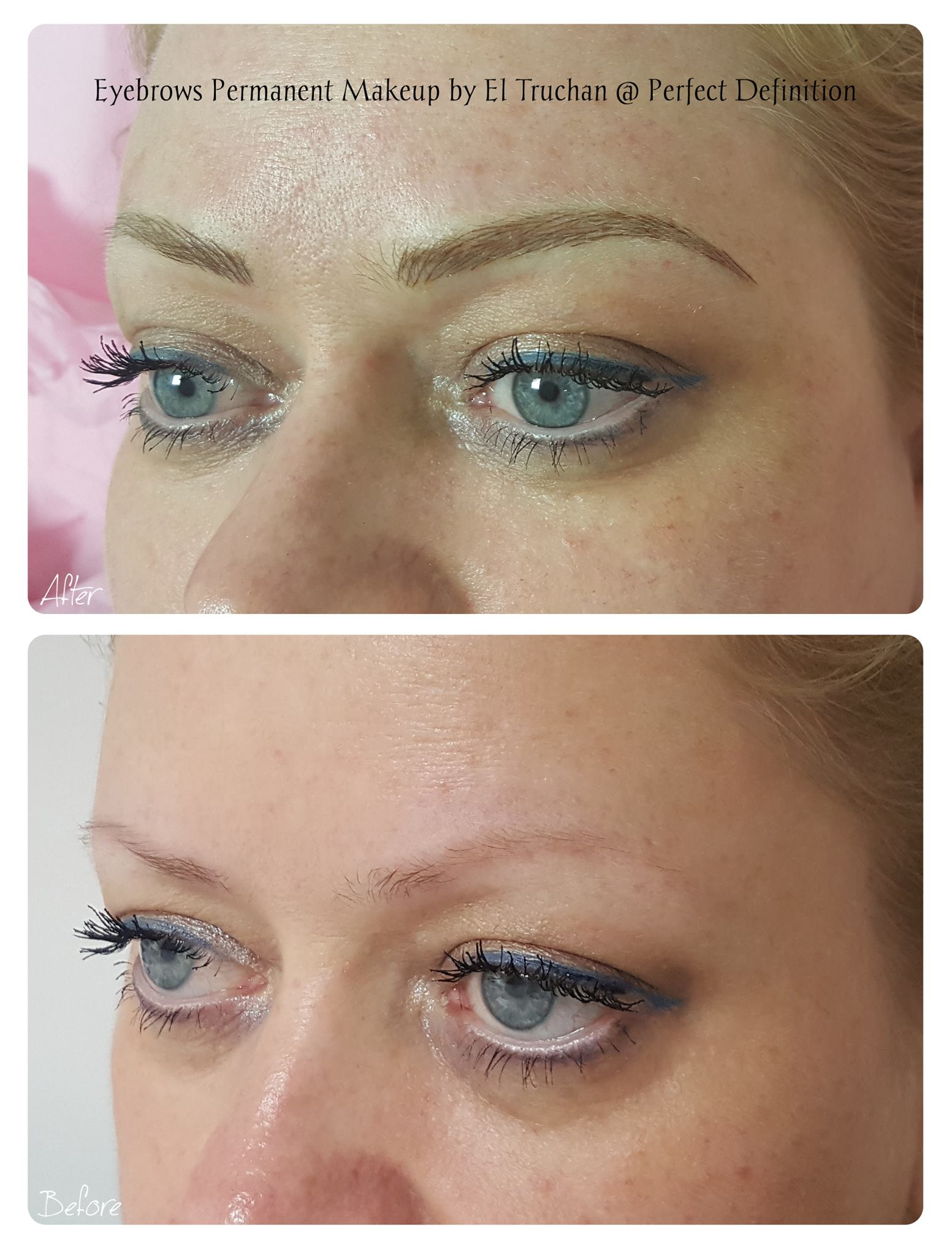 Blonde Eyebrows Hairstroke Permanent Makeup