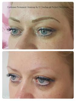 Blonde Eyebrows Hairstroke Permanent Makeup
