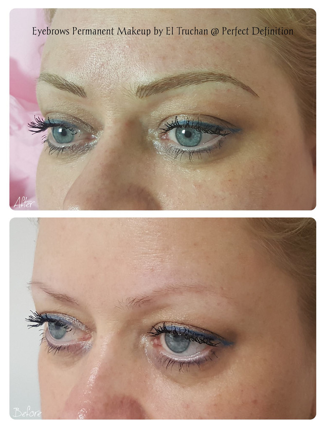 Blonde Eyebrows Hairstroke Permanent Makeup by El Truchan @ Perfect Definition