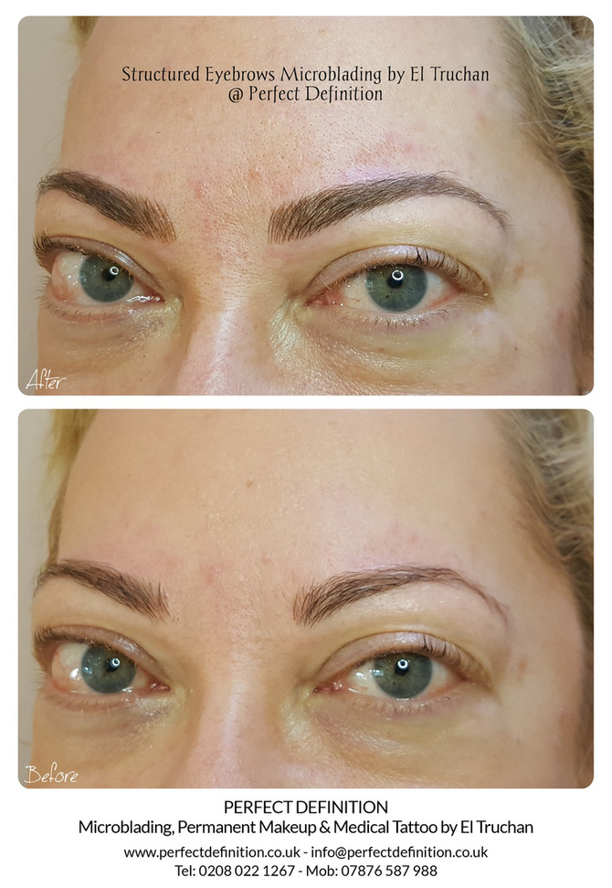 Structured Eyebrows Microblading by El Truchan @ Perfect Definition