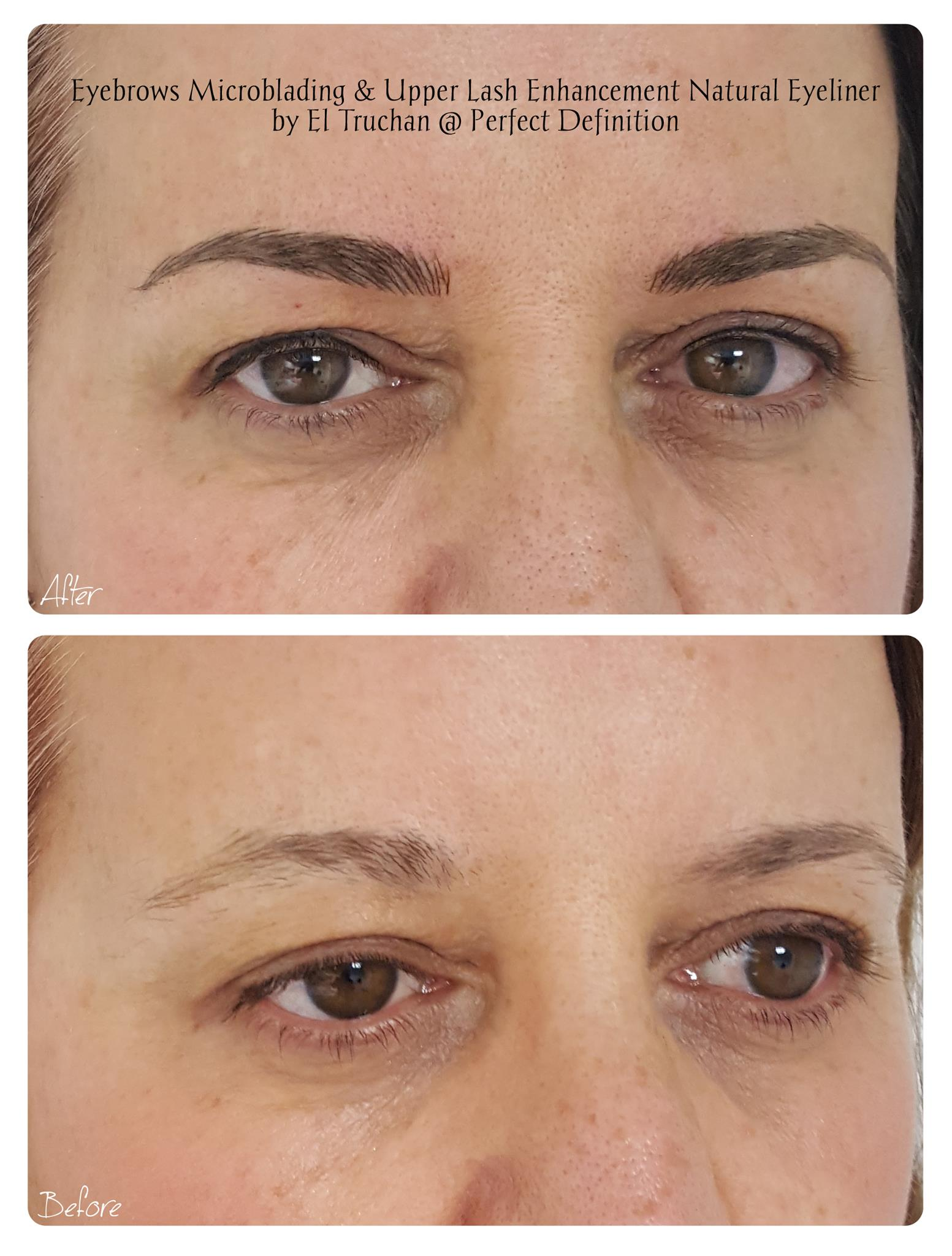 Lash Enhancement Eyeliner and Eyebrows Microblading