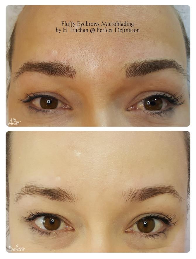 Fluffy Eyebrows Microblading by El Truchan @ Perfect Definition