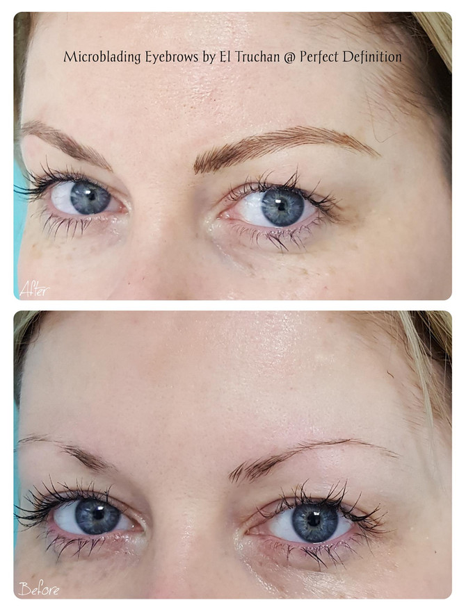 Microblading Eyebrows by El Truchan @ Perfect Definition