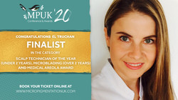 El Truchan tripple finalist Micropigment