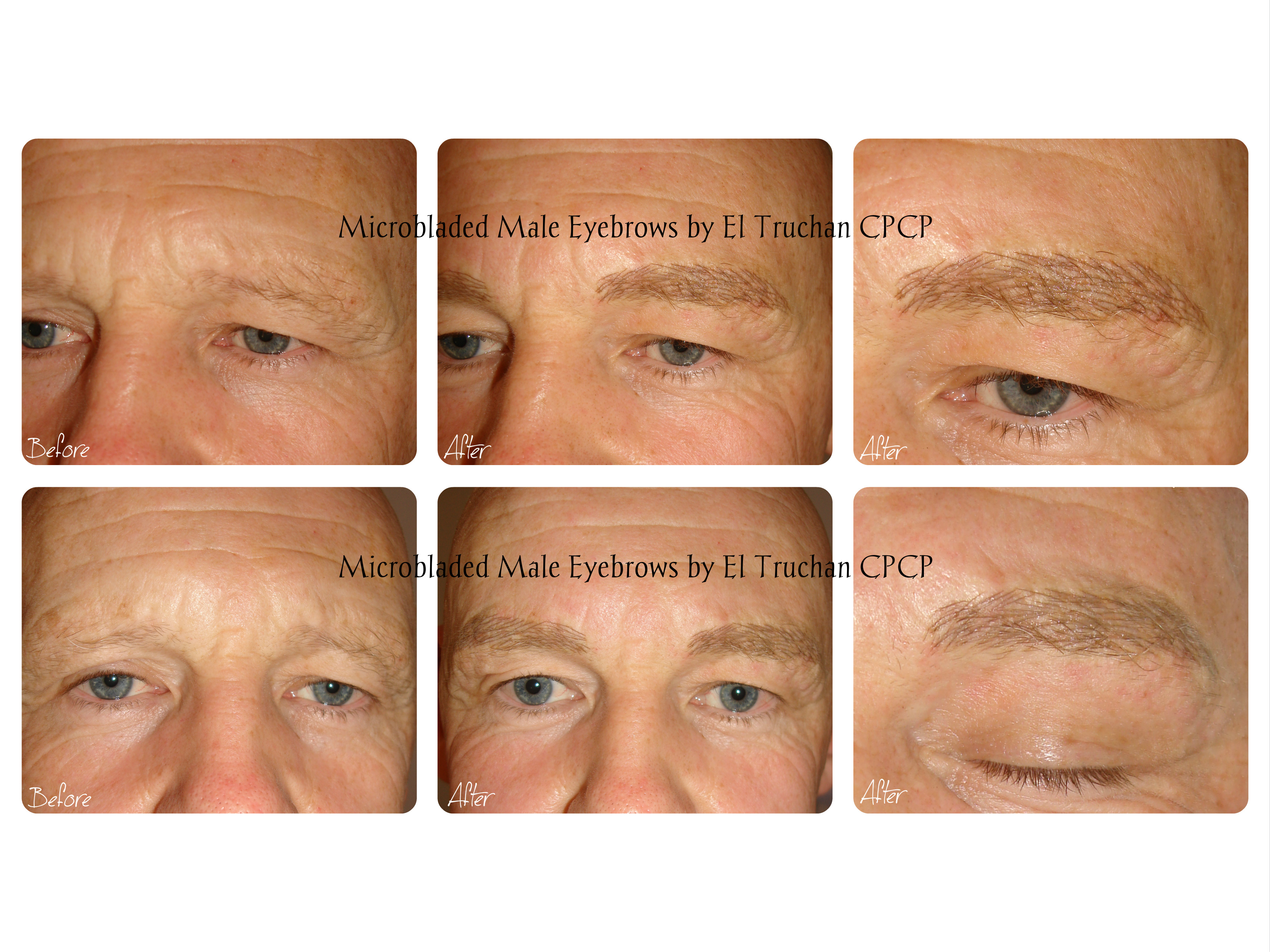 Male Eyebrows Microbladed by El Truchan