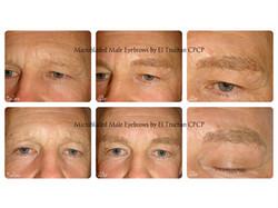 Male Eyebrows Microbladed by El Truchan