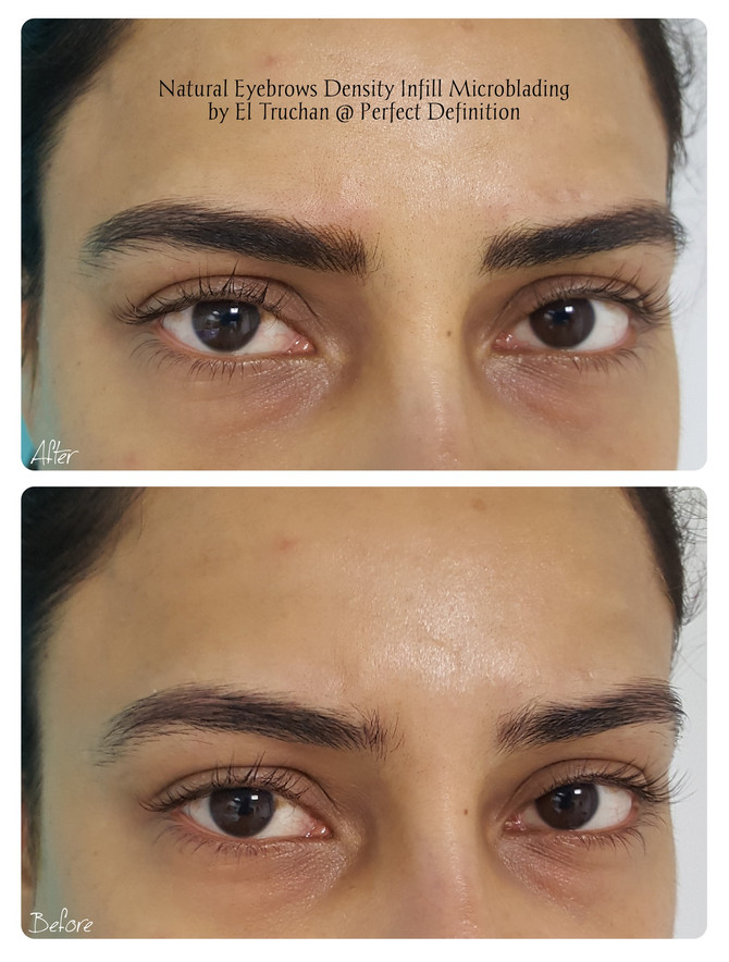 Natural Eyebrows Density Infill Microblading by El Truchan @ Perfect Definition