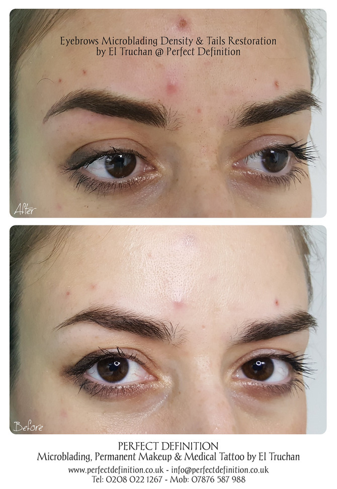 Eyebrows Microblading Density & Tails Restoration by El Truchan @ Perfect Definition