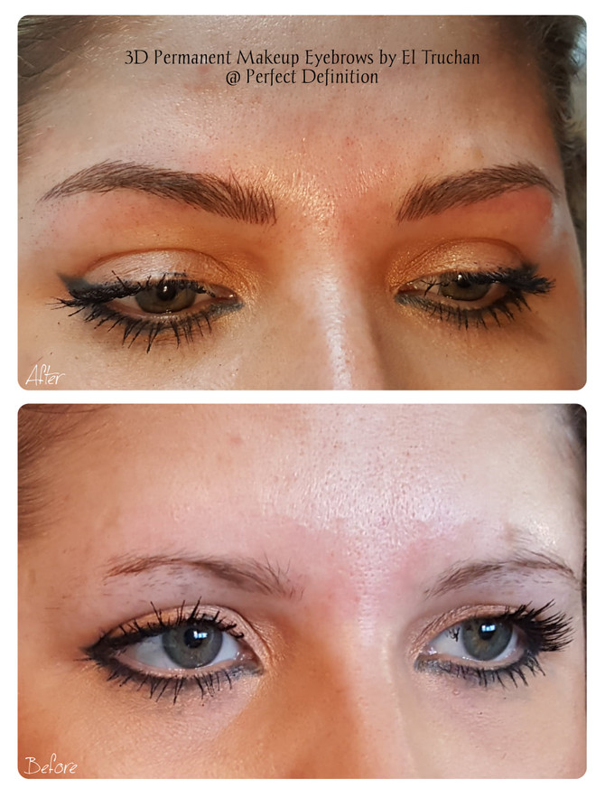 3D Permanent Makeup Eyebrows by El Truchan @ Perfect Definition