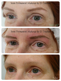 healed eyebrows semi permanent makeup by el truchan _ Perfect definition