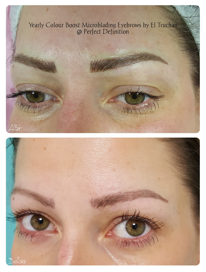 Yearly Colour Boost Microblading Eyebrows by El Truchan @ Perfect Definition